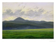 Mountainous Landscape Giclee Print by Caspar David Friedrich at AllPosters.com