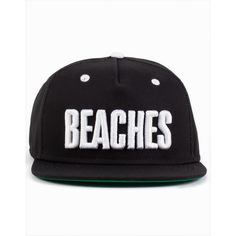 Sweet Cap Snapback Beach ($30) ❤ liked on Polyvore featuring accessories, hats, snapback, accessories miscellaneous, black, womens-fashion, black hat, black snapback, black snapback hats et black snapback cap