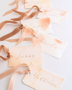 Tono + co Silk Ribbon Trim in Peach and Rose Gold. Perfect for stationary styling, boutonnieres, and detail work. Find your inspiration through color and silk. Lovingly hand-dyed in Santa Ana, California and available in 24 signature colors. Check out our website for more styling, flat-lay, and color tips. Rose Gold Ribbon, Thin Ribbon, Gold Ribbons, Silk Ribbon, Cream Wedding, Diy Gift Box, Web Design, Wire Bracelets, Beaded Necklaces