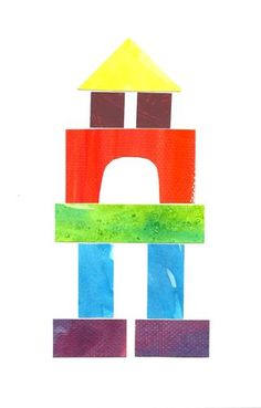 Watercolor block art. I am planning to do this as a visual connection to block play next year at school. They can design 1st with art piece and then build or vice versa. So many possiblities for documenting our block play!
