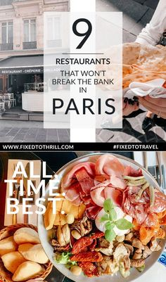 9 Restaurants in Paris, France that won't break the bank. - Sharing 9 restaurants you can visit on your vacation to Paris, France to enjoy some amazing dishes - Eurotrip, Paris Eats, Cheap Eats Paris, Paris Food, Paris Desserts, Paris Street Food, Paris France Food, Best Restaurants In Paris, Le Marais Paris