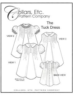 Sewing and Smocking Patterns along with Heirloom Sewing Patterns, Patchwork Clothing Patterns & Art To Wear Clothing Patterns for Children, Dolls & Adults Sewing Projects For Kids, Sewing For Kids, Sewing Crafts, Sewing Ideas, Sewing Tips, Sewing Tutorials, Fabric Crafts, Smocking Patterns, Sewing Patterns