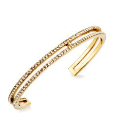 Petite Cut Out Cuff | Sparkle | Henri Bendel The Petite Cut Out Cuff bracelet is fashion jewelry that lets you accessorize to perfection. Made with gold plated steel and Swarovski elements in a pave setting for an elegant look, this luxury jewelry belongs on every Bendel Girl's wrist.