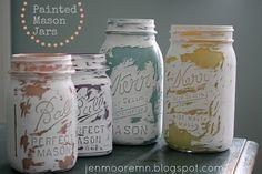 a single sunbeam: Painted Mason Jars Round 3