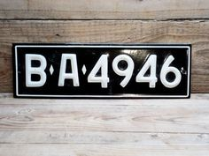 Vintage license Plate Old Bulgarian car by GuestFromThePast
