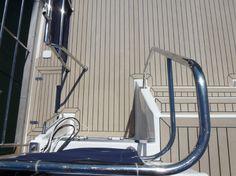 Dek-King in Weathered with black caulking. #SyntheticTeak #MotorYacht #Boat #Yacht #BeautifulMarineFloors