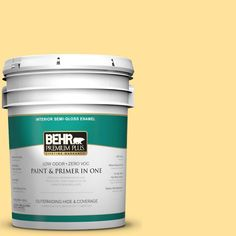 BEHR Premium Plus 5-gal. #P290-3 Roasted Corn Semi-Gloss Enamel Interior Paint