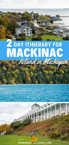 The ultimate 2-day itinerary for visiting Mackinac Island in Michigan, including what to do, where to eat, and where to stay. The Ultimate guide for 48 hours of fun! Find out why this should be on your US travel list of places to visit! A charming and unique US destination! #MackinacIsland #USA #Travel #Michigan
