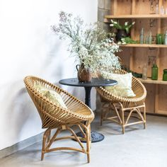 Add some Bohemian flair to your living space with our Bodhi Acapulco Chair.  The Acapulco chair was first produced in the '50s, and quickly became popular in Mexico. Usually made of vinyl cords on a metal, slightly pear-shaped frame, the Acapulco chair has most commonly been used as outdoor lounge seating.  Our Bodhi Acapulco chair is made with bamboo. Lounge Seating, Outdoor Lounge, Acapulco Chair, Living Spaces, Living Rooms, Home Interior Design, Wicker, Dandelion, Bamboo