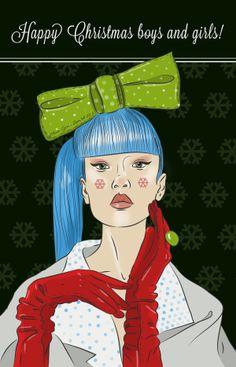Happy Christmas boys and girls! by Elena-Greta Apostol, via Behance