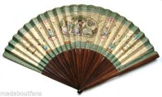 Giant Antique French Paper & Rosewood Revolutionary Fan eventail ventaglio 1790   eBay
