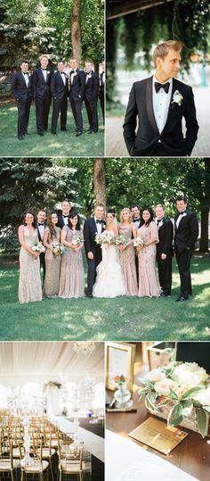 Vintage Glam Minnesota Outdoor Wedding