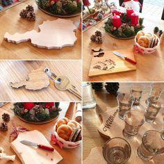Schöne Holzprodukte aus unserer Heimat Table Settings, Carpentry, Schnapps, Boards, Timber Wood, Purchase Order, Place Settings, Tablescapes