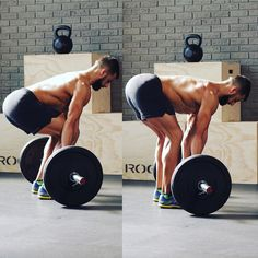 A TALE OF TWO DEADLFTS as told by MH fitness director BJ Gaddour (@bjgaddour): The conventional deadlift pictured on the left involves a slight hip dip and partial squat. Because you can use your quads more you can lift heavier loads this way. The stiff-legged deadlift (stiffies) pictured on the right isolates the movement at the hip so you can only use the glutes and hamstrings. Notice how the shins are vertical to the floor and the bar starts further away from the body. You need to use…
