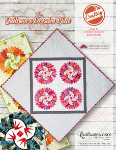 Quiltworx Dresden Plate - Available from Quiltworx.com - A Judy Niemeyer Quilting Company. Shop for more patterns and quilting supplies on store.quiltworx.com