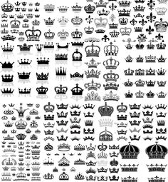 Black Crown big collection with different numbers of vertices and all kinds of jewelry for your vintage labels, royal decorations and other designs. ✔ Free download. ✔ Ready for print. ✔ .ai .eps for Adobe Illustrator. ✔ Over 10,000+ vectors (set of images).