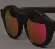 9a4abb93b2 KUBORAUM A1 BLACK SUNGLASSES WITH MIRROR SUNSET LENSES. DREAMED IN BERLIN  AND HANDMADE IN ITALY