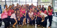 Outubro Rosa no Poupatempo diadema, para estimular a participação da população no controle do câncer de mama.