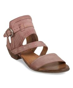 Show off that pedicure in stylish glory with these chic leather sandals boasting a studded. breathable upper and chunky stacked heel. Miz Mooz, Walk On, Leather Sandals, Cape, Blush, Stylish, Heels, Women, Fashion