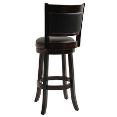 Augusta Bar Height Swivel Stool, 29-Inch, Cappuccino