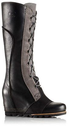 Waterproof Leather Wedge Boots - ShopStyle