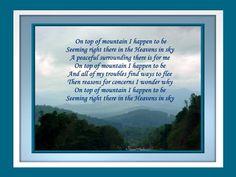 When On The Mountain Top 2wframe © Copyright Ethel GG Kent