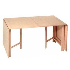 Bruno Mathsson Folding Table Mi 901 - With trestle of birch natural. Expandable Dining Table, Teak Dining Table, Dining Table Design, Coffee Table Design, Folding Furniture, Home Furniture, Furniture Design, White Laminate, Diy Table