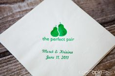 Love the pear picture for invitations