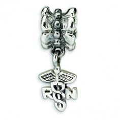 Sterling Silver Reflections Nurse Symbol Dangle Bead