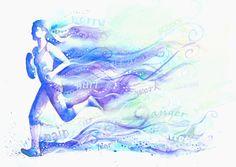 Runner watercolor.  Susan Hicks