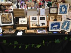 My table at the Dorset Team Etsy Fair, December 2016 Craft Stalls, I Shop, December, Photo Wall, Gallery Wall, Frame, Table, Crafts, Etsy