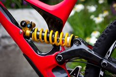 Ohlins rear shock inside Specialized Bicycles Demo S-Works 2015