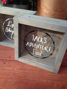 56b74bdba381c Alternative Piggy banks-money box-donation box-nursery decor- piggy bank-  Adventure fund-Custom piggy bank-custom box-Christmas Gift