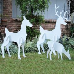 christmas reindeer family set christmas reindeer family set christmas lawn decorations