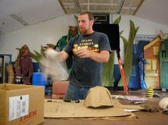 Donovan Zimmerman of Paperhand Puppet Intervention invited us into his Saxapahaw studio these two Saturdays. His group is doing their annu...