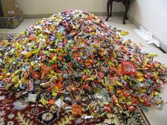 Have leftover candy? Save it! Hard candy lasts for a year, while chocolate can last up to two.