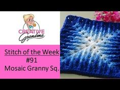 Stitch of the Week # 91 Mosaic Granny Square - Crochet Tutorial : Stitch of the. Stitch of the Week # 91 Mosaic Granny Square – Crochet Tutorial : Stitch of the Week # 91 Mosaic Granny Square Crochet Pattern, Crochet Stitches Patterns, Crochet Squares, Crochet Granny, Diy Crochet, Granny Squares, Tutorial Crochet, Knitting Stitches, Learn Crochet