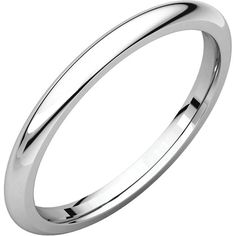 Platinum High Polish Width: 2mm Size 9 Stock #455-2000008