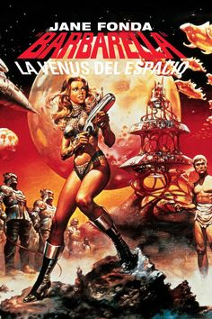 Barbarella is a 1968 French-Italian science fiction film based on Jean-Claude Forest's French Barbarella comics. The film was directed by Roger Vadim and stars Jane Fonda, who was Vadim̵… Science Fiction, Fiction Movies, Sci Fi Movies, Old Movies, Vintage Movies, Great Movies, Vintage Posters, Space Movies, Movies 2019