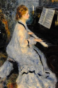 Pierre Auguste Renoir - Woman at the Piano, 1876 at Art Institute of Chicago IL | by mbell1975