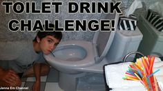 VIDEO: Drink from the TOILET #Challenge!   WATCH: http://youtu.be/ENjd_h9tjz8  #YouTubeChallenge