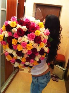 recieve the biggest bouquet of flowers ever. whaaaaat yes please! lucky biotch
