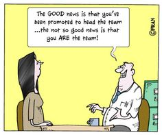 Social work cartoon: 'Congratulations on your new job!' - by Community Editor Andy McNicoll, Community Care