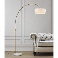 Shop for Carson Carrington Flam Arch Floor Lamp. Get free delivery On EVERYTHING* Overstock - Your Online Lamps & Lamp Shades Store! Yellow Floor Lamps, Arc Floor Lamps, Brass Floor Lamp, Cool Floor Lamps, Scandinavian Floor Lamps, Arch Lamp, Linen Lamp Shades, Retro Living Rooms, Torchiere Floor Lamp