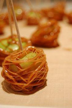 Caramel Apple Spiderweb