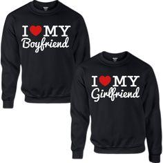 I LOVE MY BOYFRIEND I LOVE MY GIRLFRIEND COUPLE SWEATSHIRT ($70) ❤ liked on Polyvore featuring tops, hoodies, sweatshirts, boyfriend top, low tops, sweat shirts, sweatshirts hoodies and sweat tops