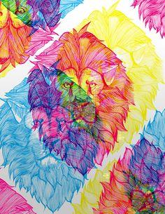 LION GRAPHIC by ilovereptar.deviantart.com on @deviantART