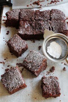 Eggless Brownies | Eggless Cocoa Brownie Recipe
