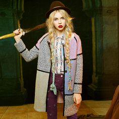Elf Sack Women Wool Jacket Color Block | elfsack