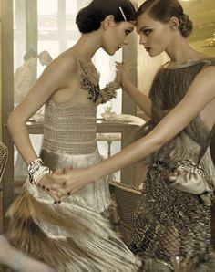 Kinga Rajzak and Viktorya Sasonkina ~ Oh so Gatsby!